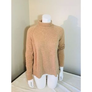 ANN TAYLOR Small Sweater Brown Wool Cashmere